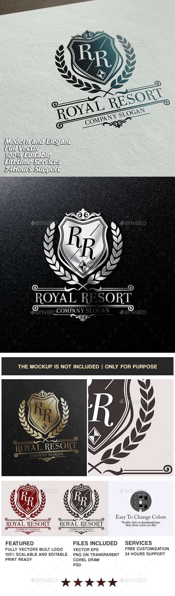Royal Resort - Crests Logo Templates