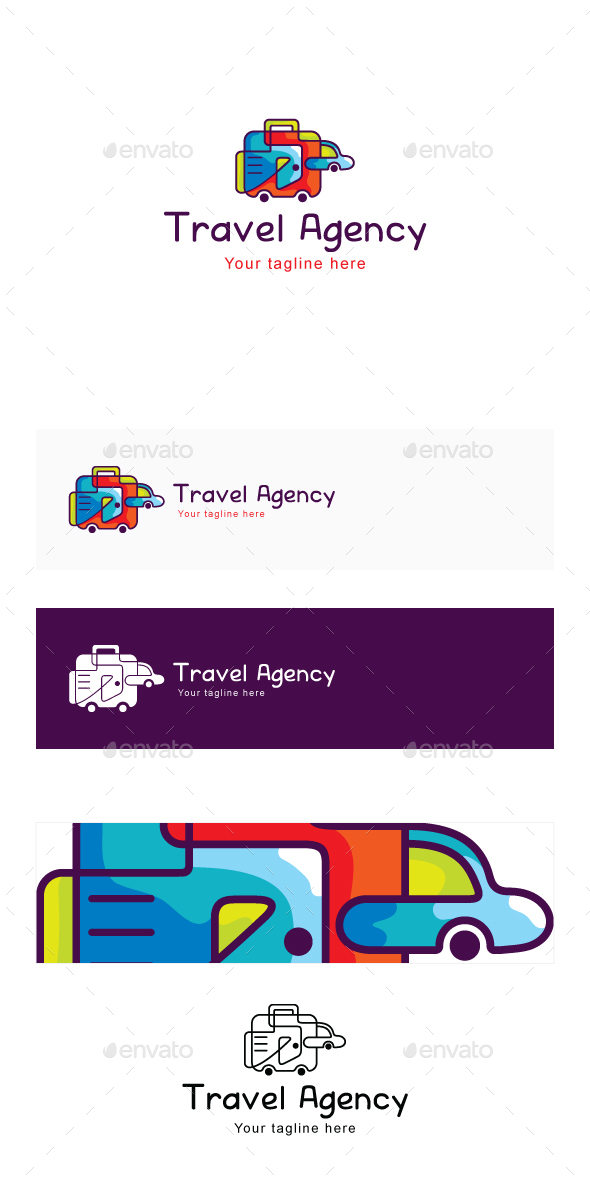 Travel Agency Stock Logo Template - Symbols Logo Templates