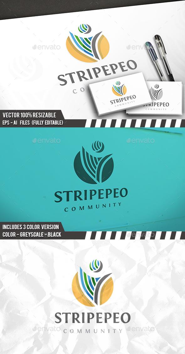 Stipe People Logo - Humans Logo Templates