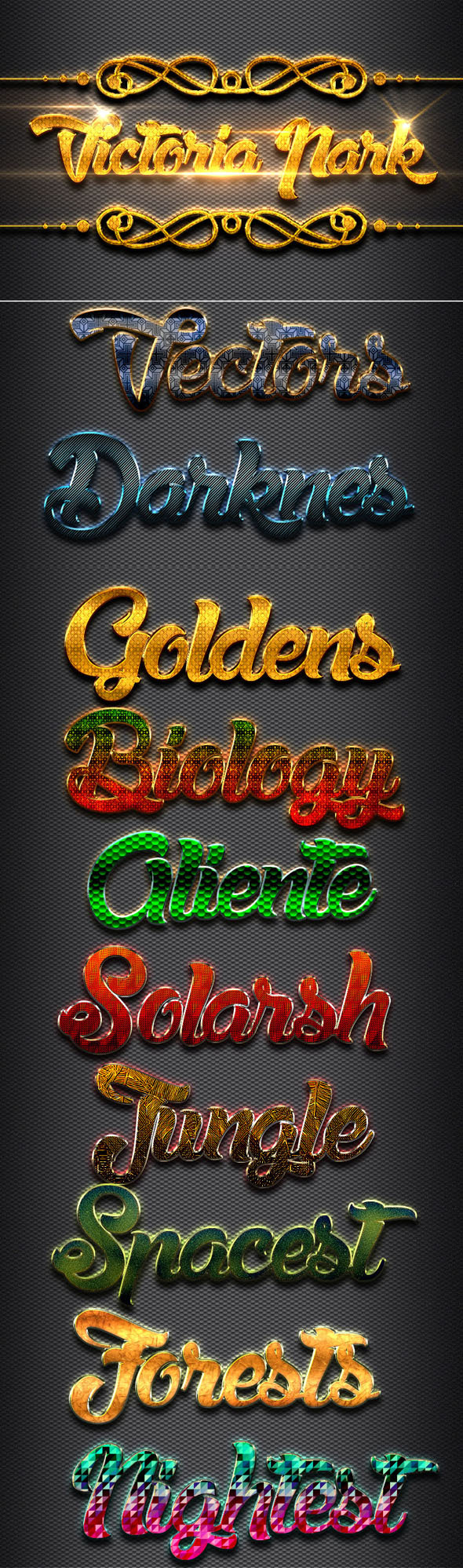 10 Elegant Style 2 - Text Effects Styles