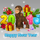 Monkey Happy New Year - GraphicRiver Item for Sale