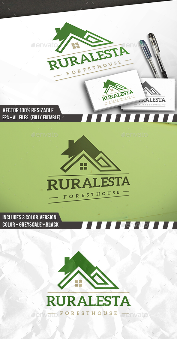 Real Estate Green Logo - Buildings Logo Templates