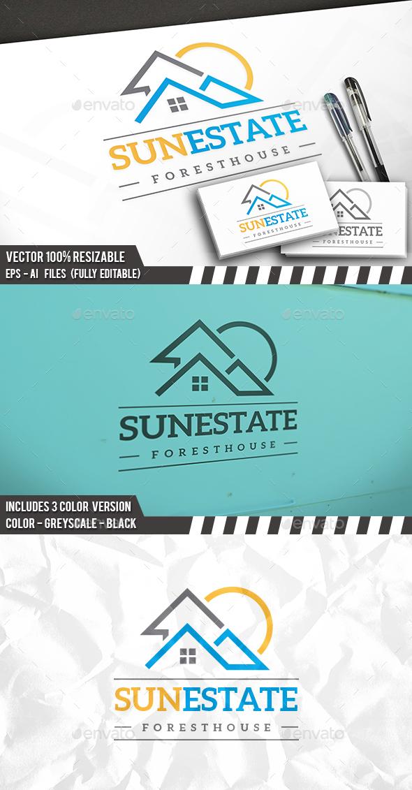 Real Estate Sun Logo - Buildings Logo Templates