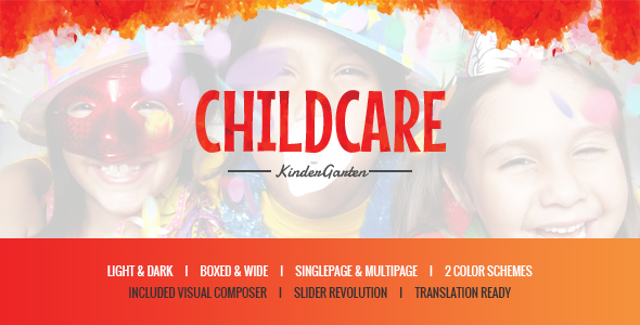 Child Care - Children & Kindergarten WP Theme