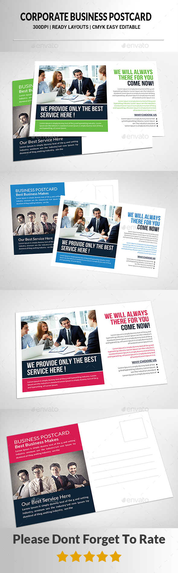 Corporate Postcard Print Templates - Corporate Flyers