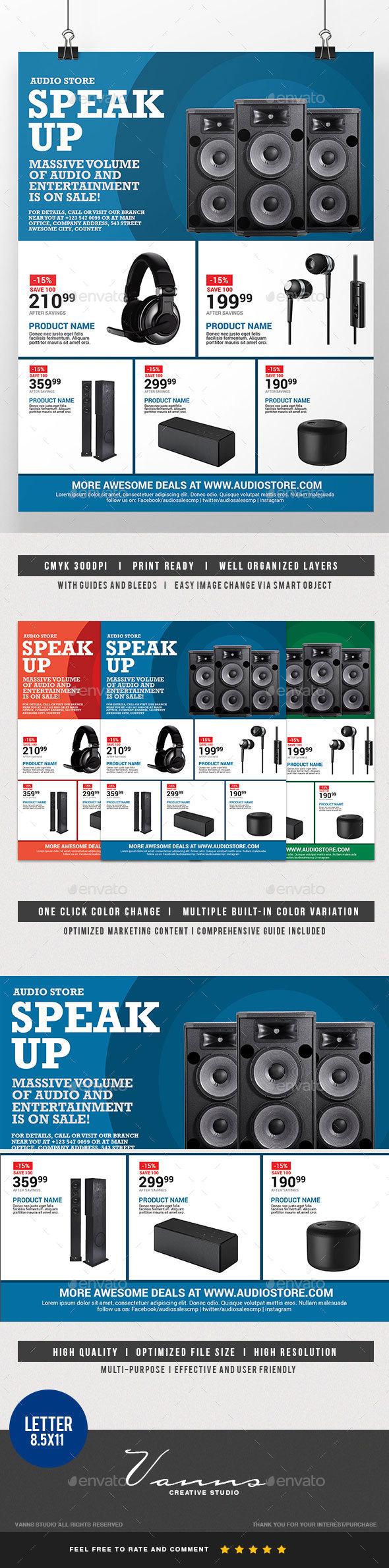 Audio Sales Flyer - Commerce Flyers