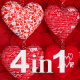 Valentines Hearts Transtions (4-Pack) - VideoHive Item for Sale
