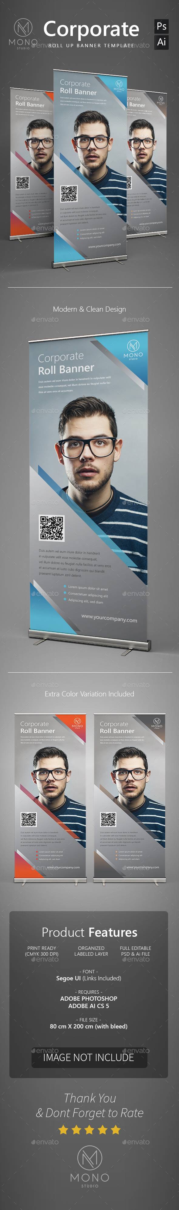 Corporate Roll Up Banner 1 - Signage Print Templates