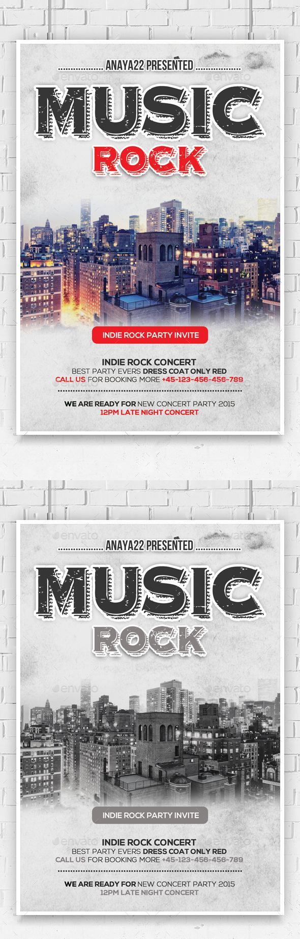 City Music Concert Flyer Psd - Clubs & Parties Events