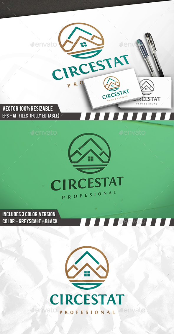 Real Estate Circle Logo - Buildings Logo Templates