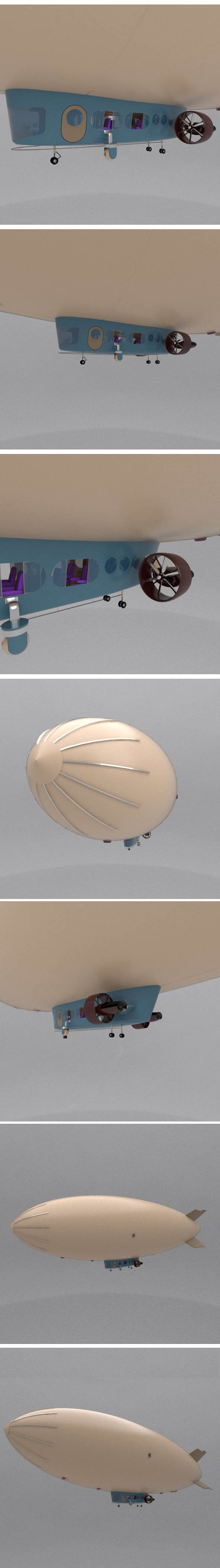 Skyship AIRSHIP Zeppelin - 3DOcean Item for Sale