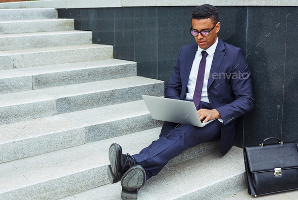Working outdoors - Stock Photo - Images