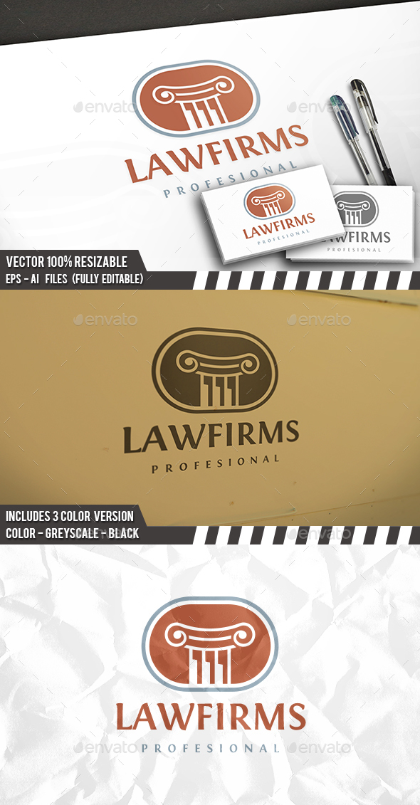 Law Classic Logo - Crests Logo Templates
