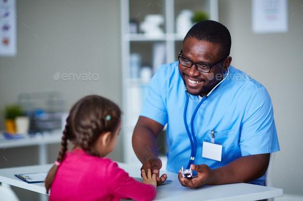 Visiting pediatrician - Stock Photo - Images
