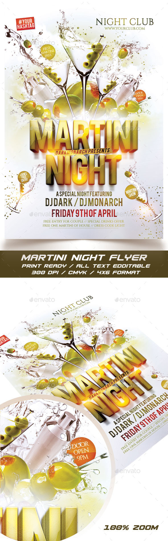 Martini Night Flyer - Events Flyers