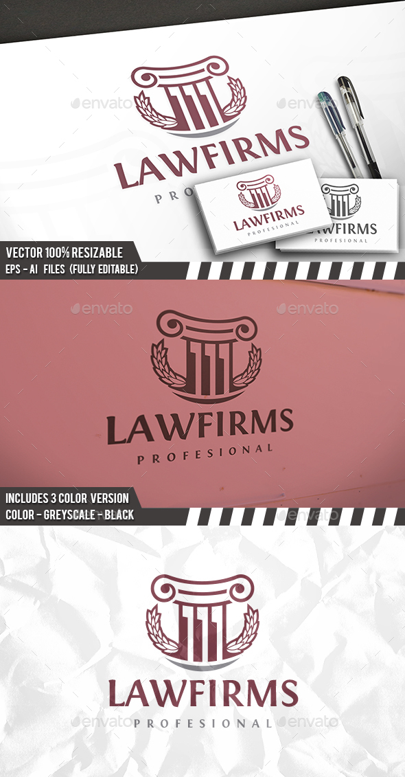 Law Brand Logo - Crests Logo Templates