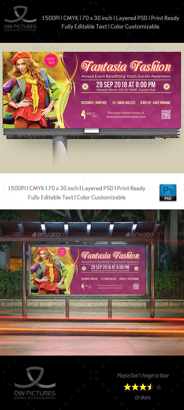 Fashion Billboard Template - Signage Print Templates
