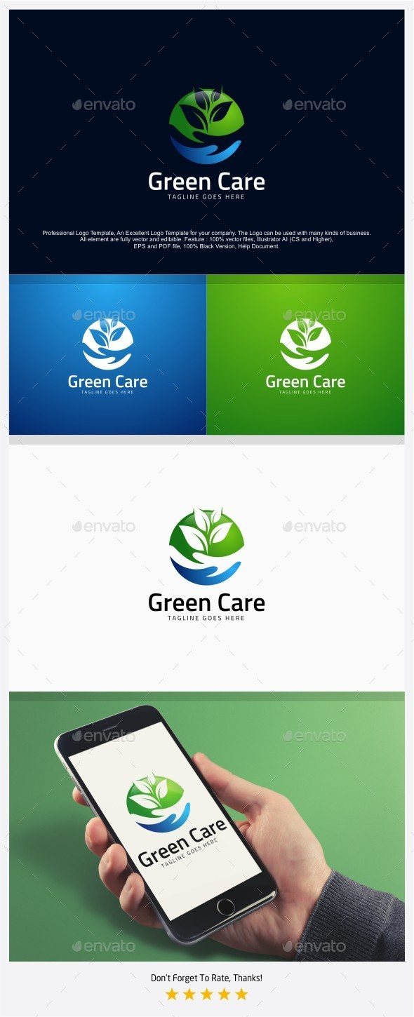 Green Care - Nature Care Logo - Nature Logo Templates