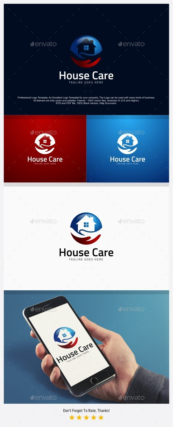 House / Home Care Logo - Buildings Logo Templates