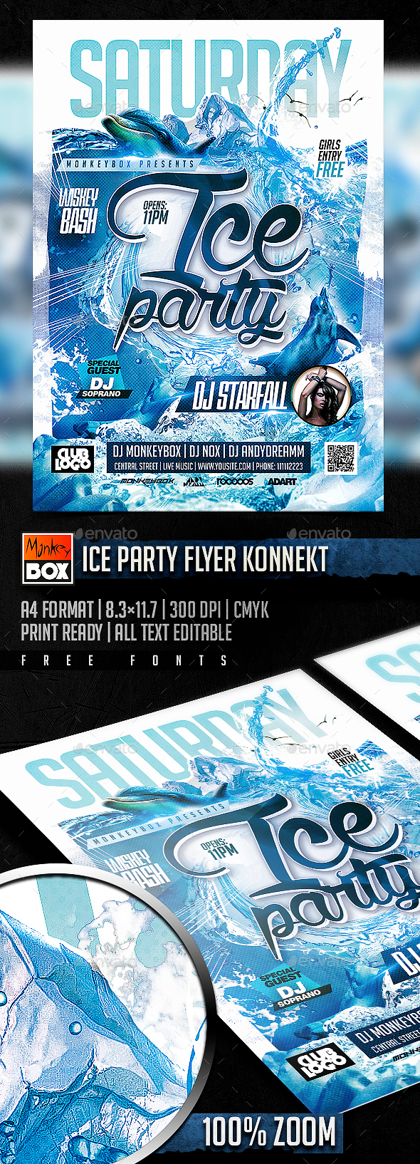 Ice Party Flyer Konnekt - Clubs & Parties Events