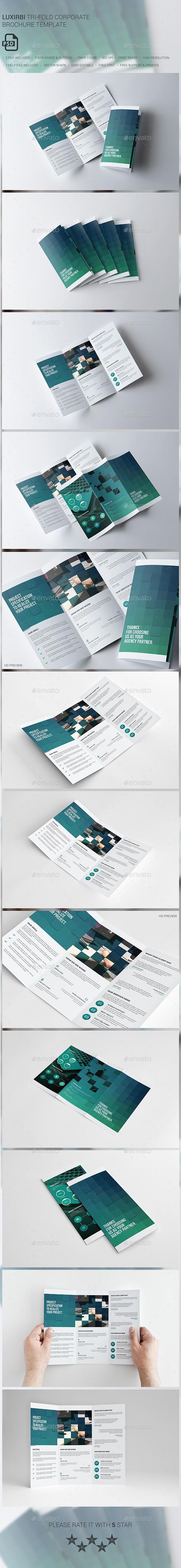 Luxirbi Corporate Tri-fold Brochure - Brochures Print Templates