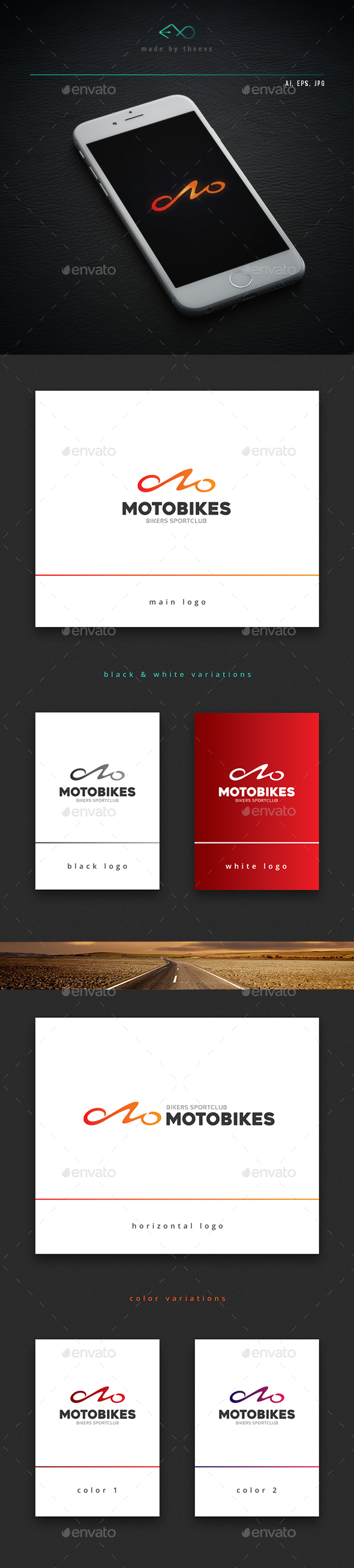 Motobikes - Letters Logo Templates