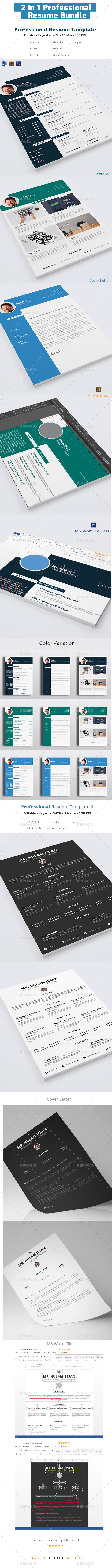 Professional Resume Bundle - Resumes Stationery