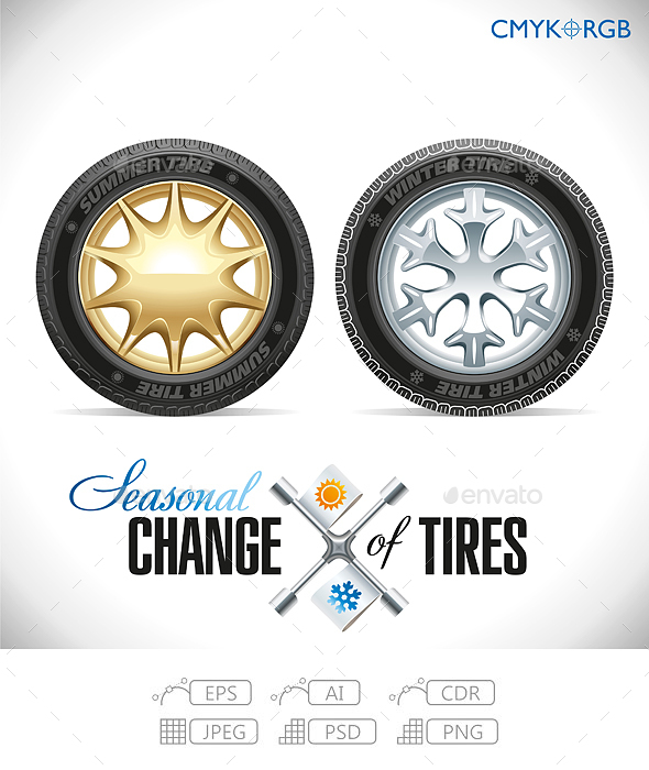 Tire Change Winter and Summer Wheels for the Car - Services Commercial / Shopping