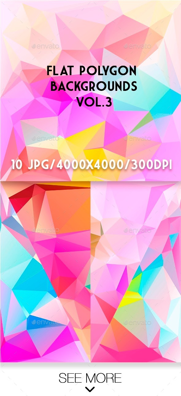 Flat Polygon Backgrounds Vol.3 - Abstract Backgrounds