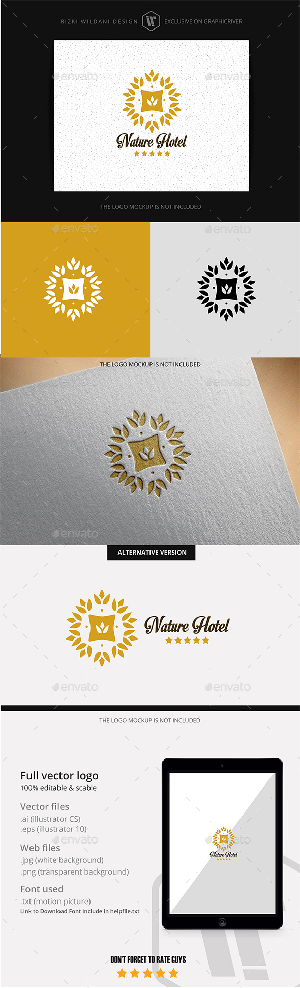 Nature Hotel - Logo Template - Crests Logo Templates