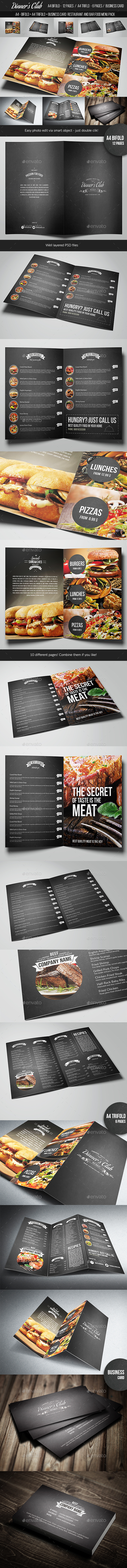 Restaurant and Bar Menu Pack