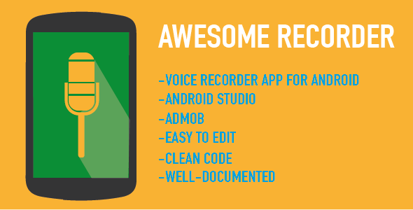 Awesome Recorder - Android Studio App with Admob - CodeCanyon Item for Sale