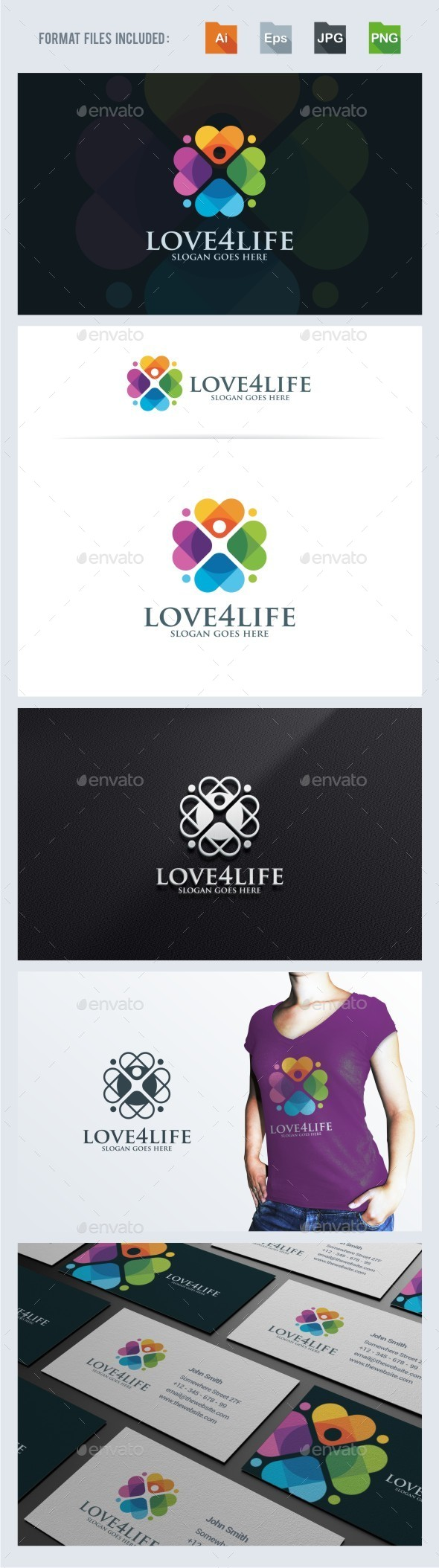 Love For Life Logo Template - Humans Logo Templates