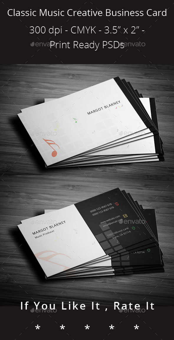 Classic Music Creative Business Card - Creative Business Cards