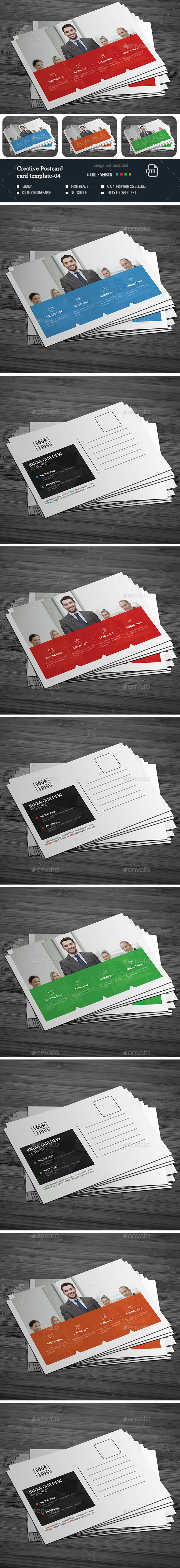 Creative Post Card -04 - Cards & Invites Print Templates