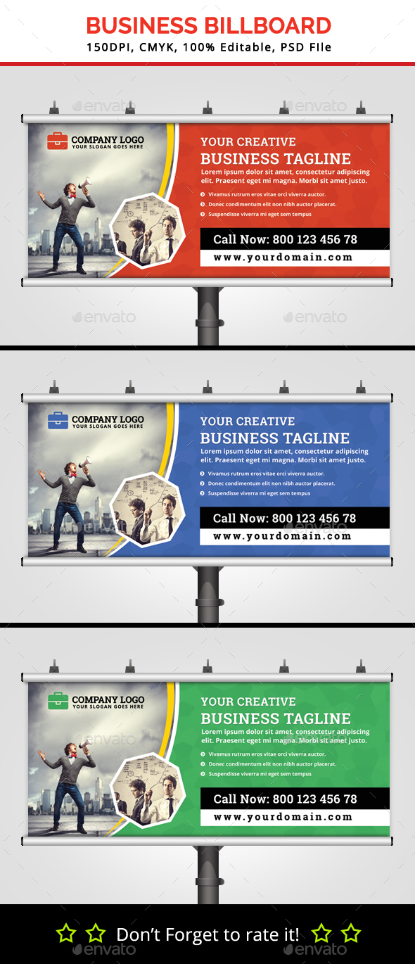 Business Billboard V5 - Signage Print Templates
