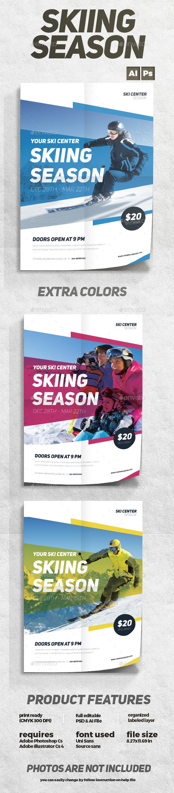 Skiing Season Flyer - Sports Events