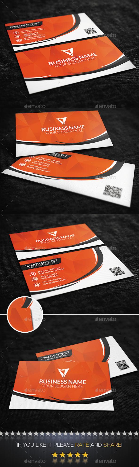 Orange Creative Business Card - Creative Business Cards
