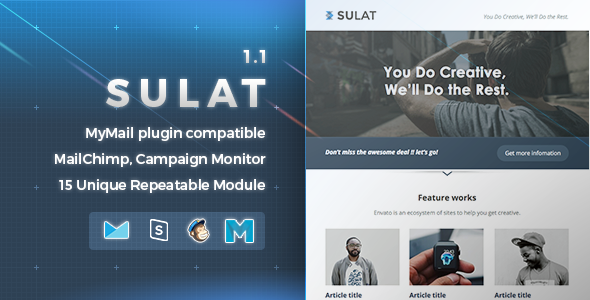 Sulat | Responsive Email Template - Newsletters Email Templates