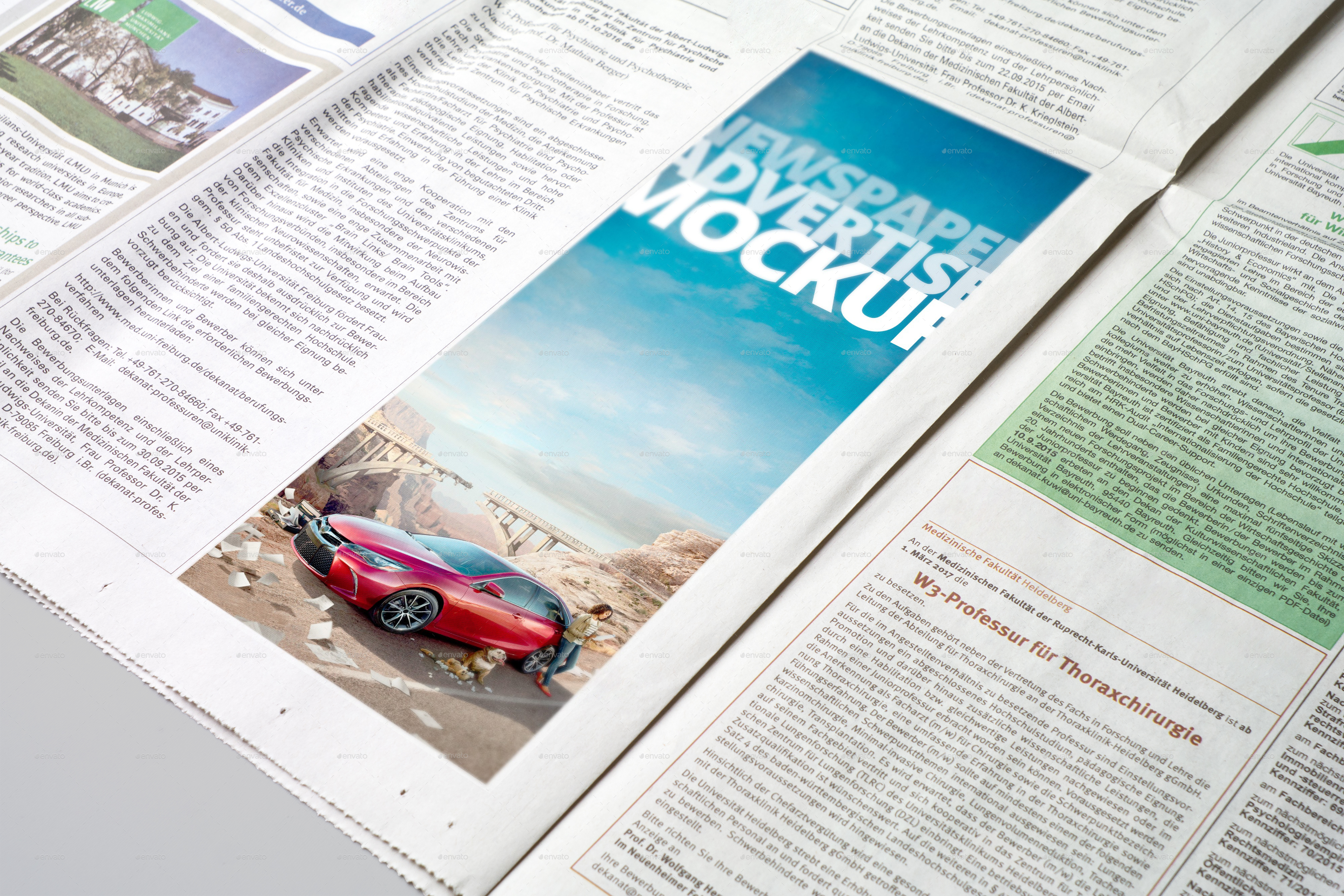 Newspaper Advertise Mockup v3 by 2dsight | GraphicRiver