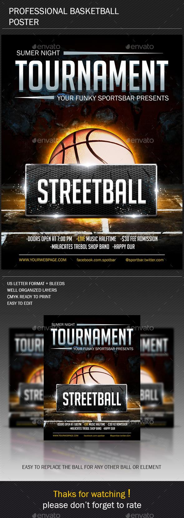 Basketball Poster V2 - Sports Events
