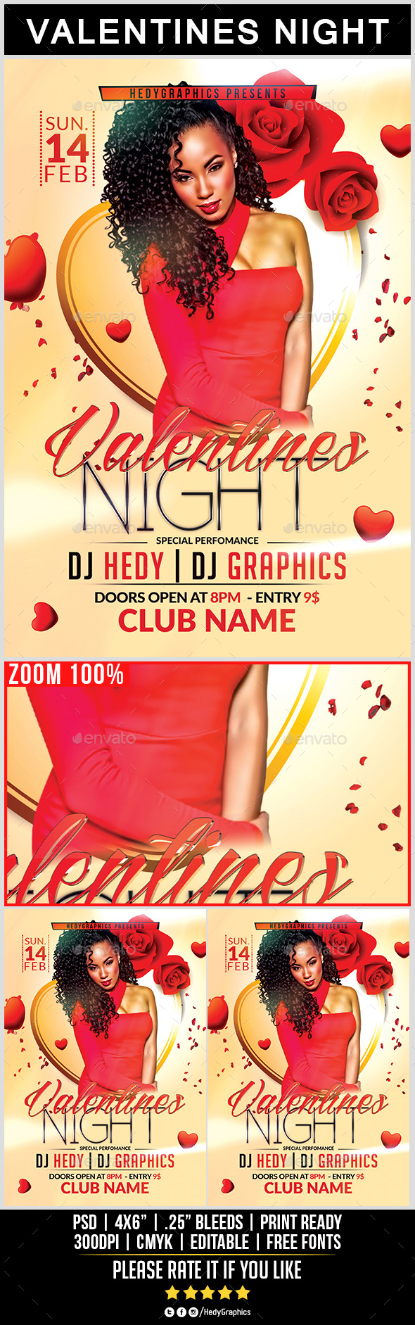 Valentines Night - Flyer Template