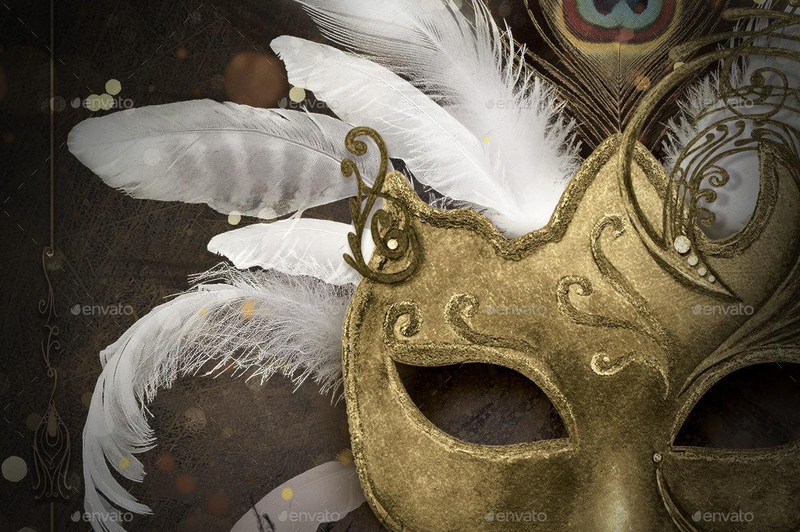 mardi gras masquerade ball flyerserenasorrenti | graphicriver, Powerpoint templates