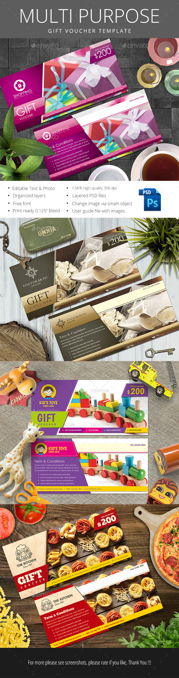 Multipurpose Gift Voucher - Loyalty Cards Cards & Invites