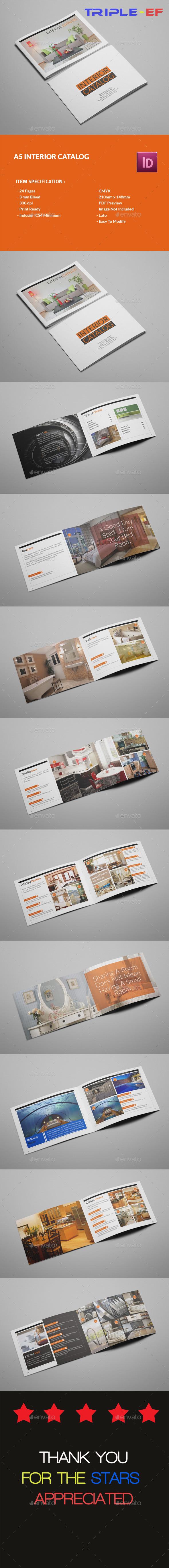 A5 Interior Design - Brochures Print Templates