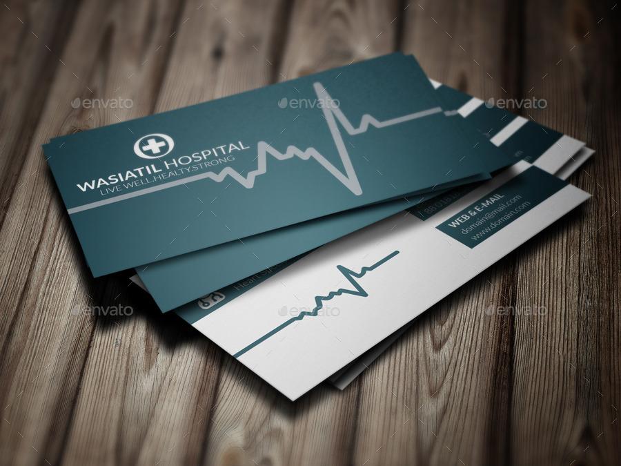 doctor business card by jannatennayem