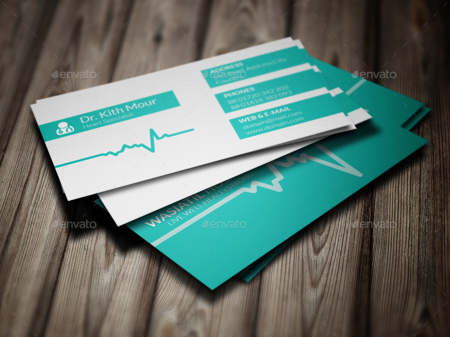 Doctor business card by jannatennayem graphicriver doctor business card colourmoves
