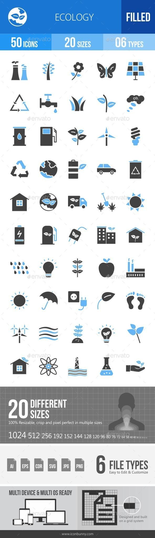 Ecology Blue & Black Icons - Icons