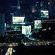 City Landscape With Roads And Billboards At Night - VideoHive Item for Sale