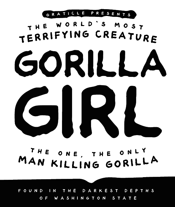 Gorilla Girl Font By Graticle